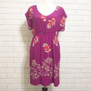 Moulinette Soeurs Purple Silk Dress Size 6